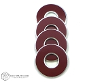 Maroon-Burgundy VVashers™ - Set of 4